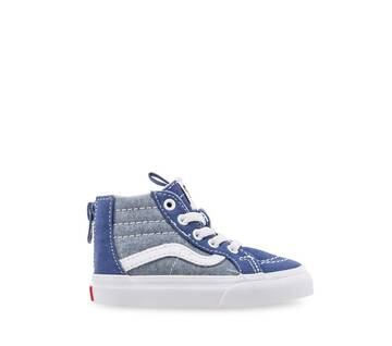 Toddler Sk8-Hi Zip Cambray Navy/White