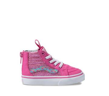 Toddler Sk8-Hi Zip Rose/White