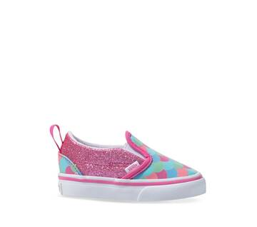 Toddler Slip On V Rose/White