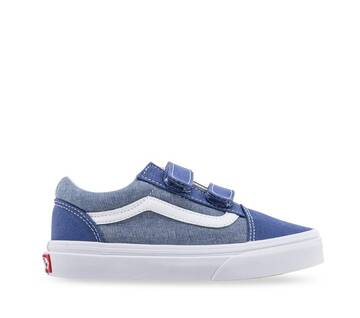 Kids Old Skool Velcro Cambray Navy/White