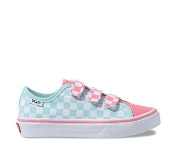 Kids Style 23 Velcro Checkerboard Blue/Pink
