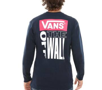 Retro Tall Type Navy Long Sleeve Tee
