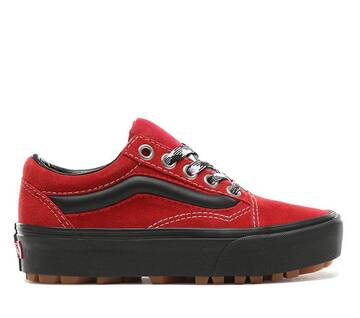 Old Skool 90s Retro Lug Platform Red