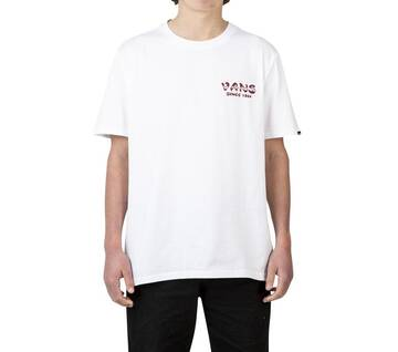 BURNT OUT SHORT SLEEVE TEE WHITE