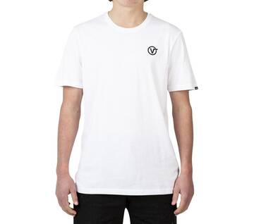 CIRCLE V OFF THE WALL TEE WHITE
