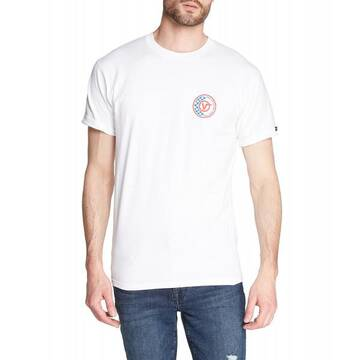 CHECKER CIRCLE V SHORT SLEEVE WHITE