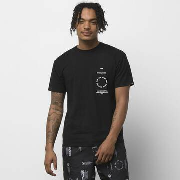 DISTORTION TYPE SHORT SLEEVE BLACK