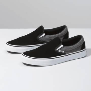 CLASSIC SLIP ON SUEDE SUITING BLACK