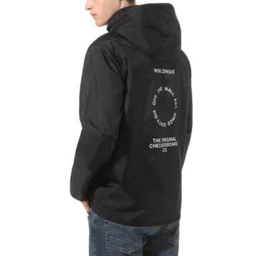 DISTORT TYPE ANORAK BLACK