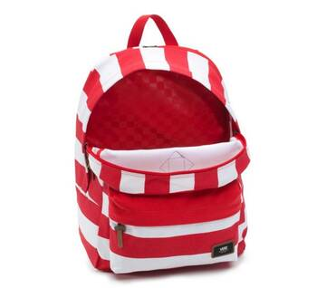 Old Skool Plus Red/White Stripe Backpack