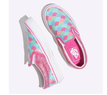Kids Slip On Rose/White