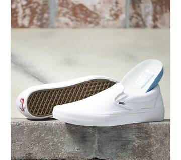 SLIP ON PRO WHITE SUEDE