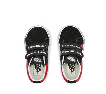 Toddle Sk8-Mid Reissue V Logo Pop Black/Red