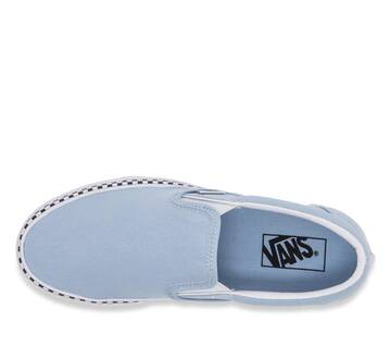 Slip On Check Foxing  Cool Blue/True White