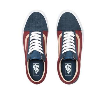 Old Skool Textured Suede Blue/Red