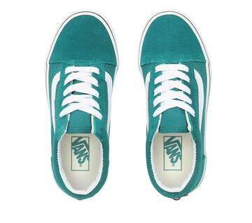 Kids Old Skool Quetzal Green/True White