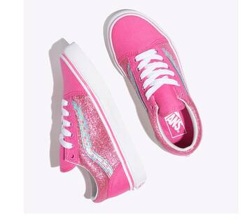Kids Old Skool Rose/White