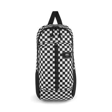 WARP SLING BAG BLK WHITE CHECK