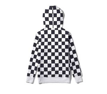 All Over Checker Black/White Hoodie