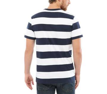 Anaheim Issue White/Blue Striped Tee