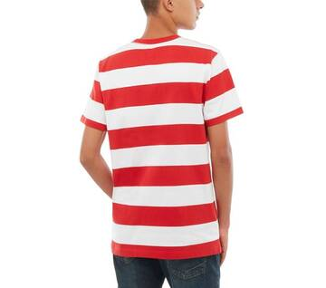 Anaheim Issue White/Red Striped Tee