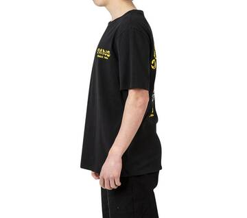 BURNT OUT SHORT SLEEVE TEE BLACK