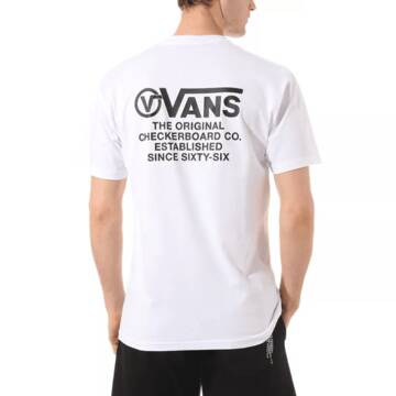 DISTORTION TYPE SHORT SLEEVE WHITE