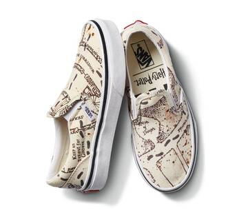 Vans X Harry Potter Kids Classic Slip On Marauders Map