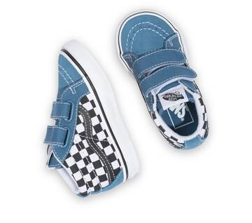 TODDLER SK8-MID CHECKERBOARD